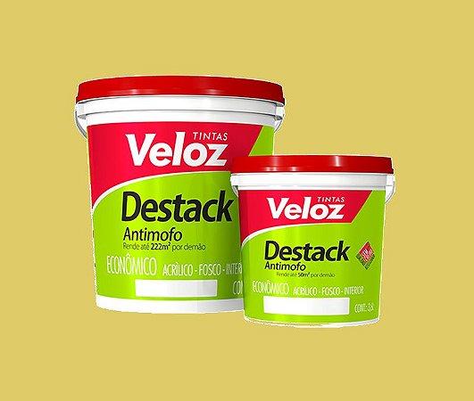 Tinta acrilico palha Destack Galão com  3,6 Litros Interior - Veloz