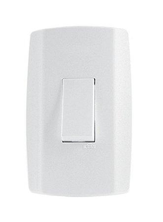 Interruptor simples 10A Vertical slim - ilumi