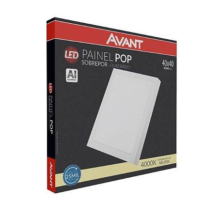 Luminária Painel Pop de Sobrepor 18W 22x22CM - Avant