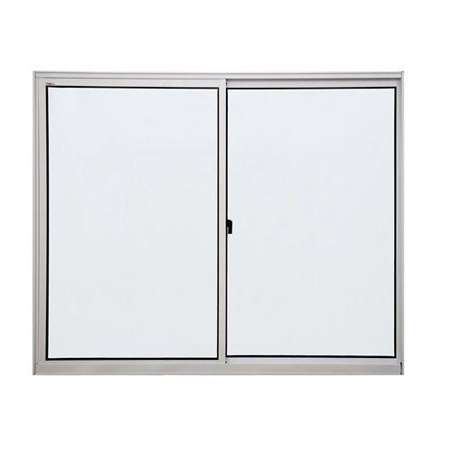 Janela de aluminio 2 folhas alt.1,00x1,20mt lar. vidro liso - Indimel