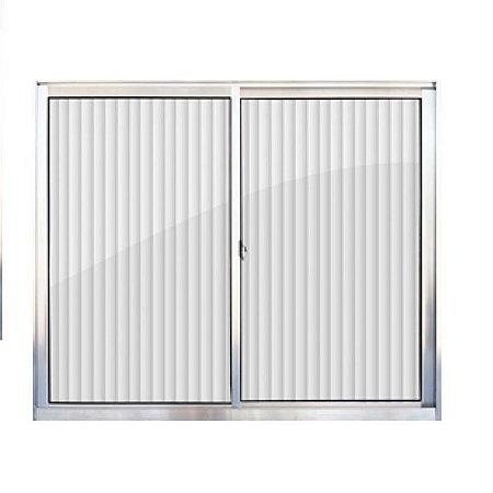 Janela de aluminio 2 folhas alt.1,00x1,20lar. vidro canelado - Indimel
