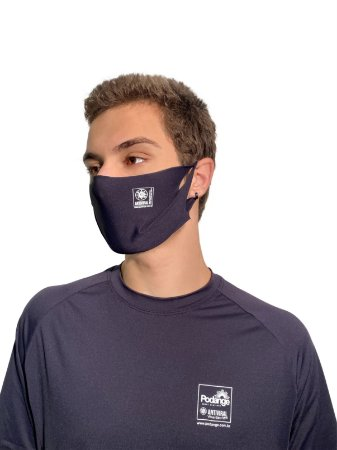 Máscara Antiviral Permanente - Unica, Adulta (Azul marinho)