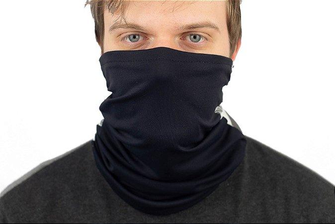 Bala Clava, bandana ou máscara antiviral Azul Marinho lisa