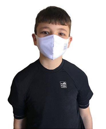 Máscara Antivirais Permanente - Anatômica, Infantil (BRANCA)