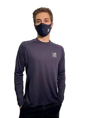 Camiseta Antiviral Permanente Adulta - Manga Longa (PRETA)