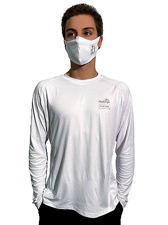 Camiseta Antiviral Permanente Adulta - Manga Longa (BRANCA)