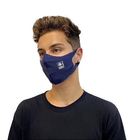 Máscara Antiviral Permanente - Anatômica, Adulta (AZUL MARINHO)