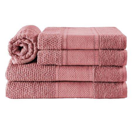 Jogos de Toalha de Banho 5 Peças Rose Pitaia Noblesse