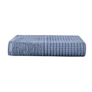 Toalha de Banho Avulsa Azul Jeans 100% Algodao Linha Paris