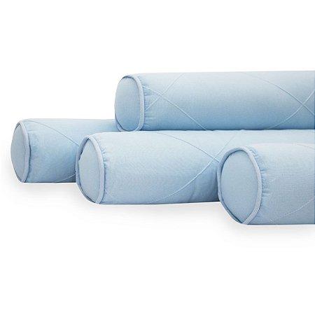 Kit 04 Rolinhos Para Berço Americano Moderninhos Blue