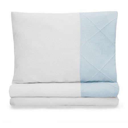 Jogo de lençol Moderninhos berço americano 3 Peças Blue