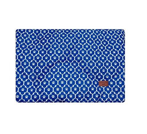 Colchonete Impermeável Caes e Gatos Grande 1,00x0,60 Azul