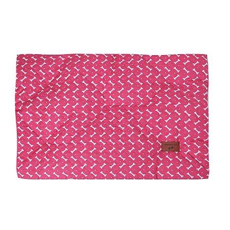 Colchonete Impermeável Caes e Gatos Pequeno 0,65x0,45 Rosa