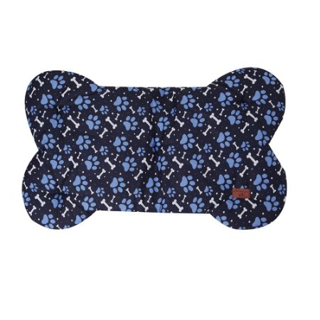 Colchonete Formato de Osso Azul Matelado
