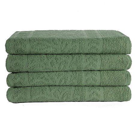 Kit 04 Toalhas de Banho Athenas 100% Algodão Verde