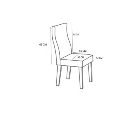 Kit 4 Capas Para Cadeira Lisa Protetora Varias Cores