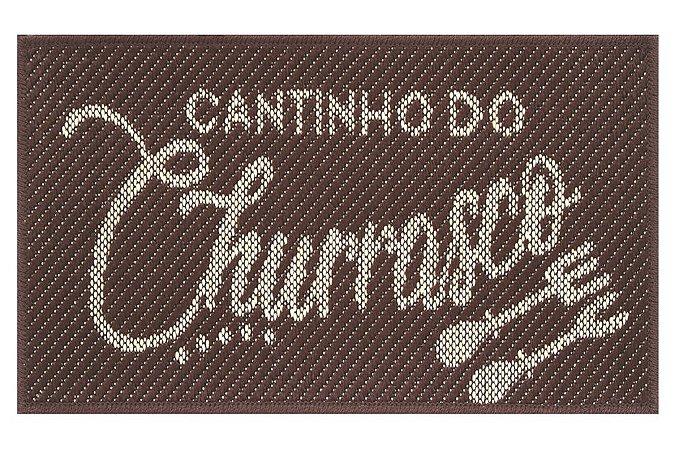Tapete Cantinho Churrasco Sisal Marrom 40x65 Antiderrapante