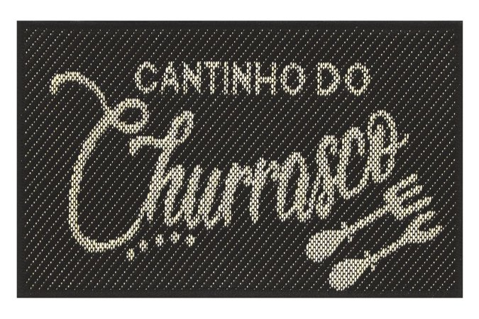 Tapete Cantinho Churrasco Sisal Preto 40x65 Antiderrapante