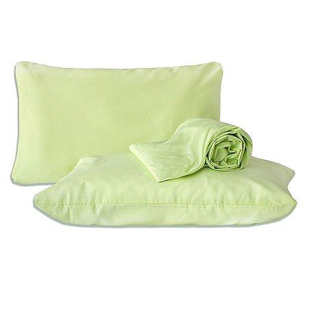Jogo de lençol Verde Queen Classic Liso 3 Peças