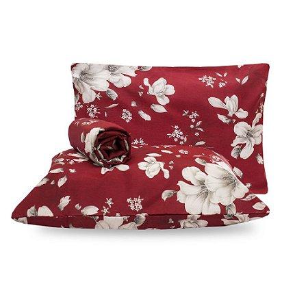 Jogo de lençol Casal Padrão Dama de Vermelho Classic 3 Peças