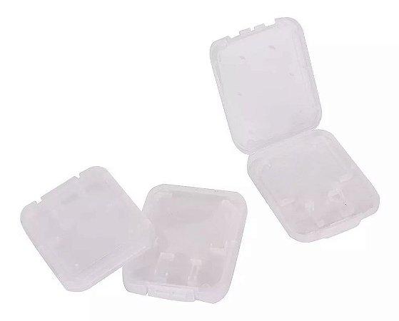 Lote Com 50 Caixas De Plastico Para Cartão De Memória