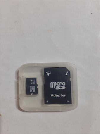 Cartão de Memória Micro SD 32 GB + Caixa Plástica + Adaptador SD