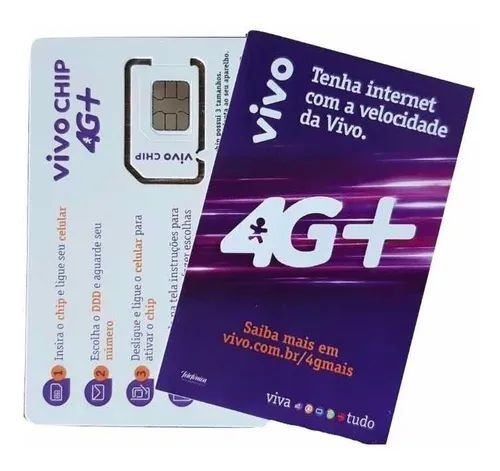 Chip Vivo 4G/3G Triplo Corte