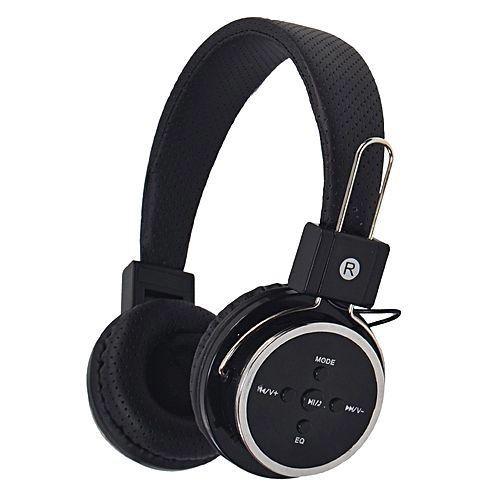 Fone De Ouvido Sem Fio Bluetooth compatível com cartão micro SD - Modelo B05 Preto + Nota Fiscal