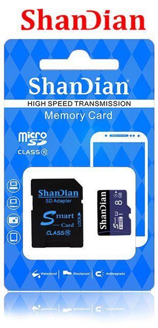 Cartão de Memória Shandian Micro SD  8GB/16GB/32 GB+ Adaptador