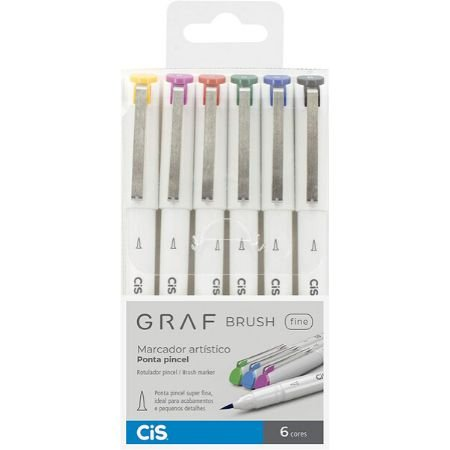 CIS Graf Brush Fine - 6 Cores