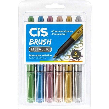 CIS Brush Metallic - Kit 6 Cores