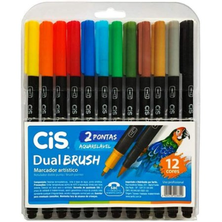 CIS DualBrush Pen - Kit 12 Cores