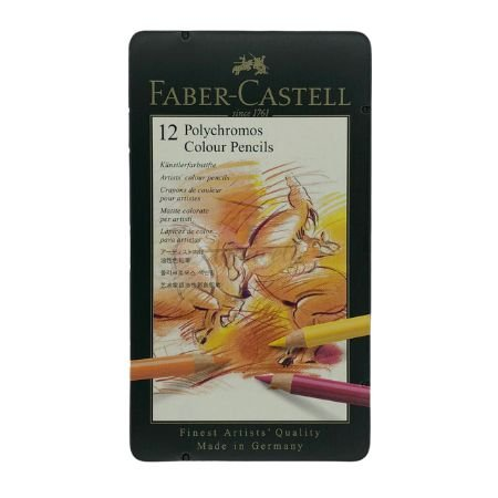 Faber-Castell Polychromos Colour Pencils - 12 Cores