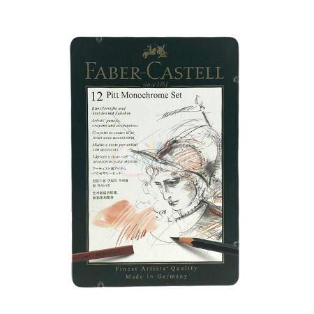 Faber-Castell Pitt Monochrome Set - 12 Peças
