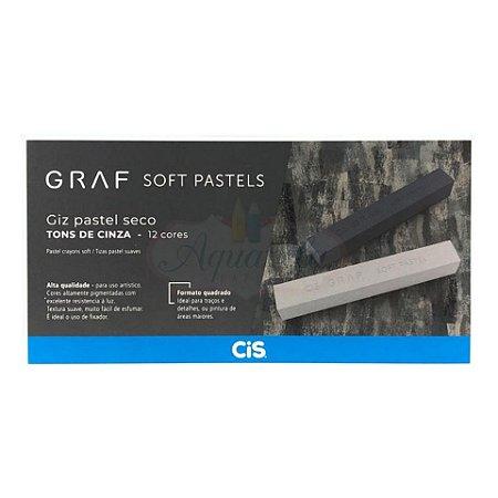 Giz Pastel Seco CIS Graf - 12 Tons de Cinza