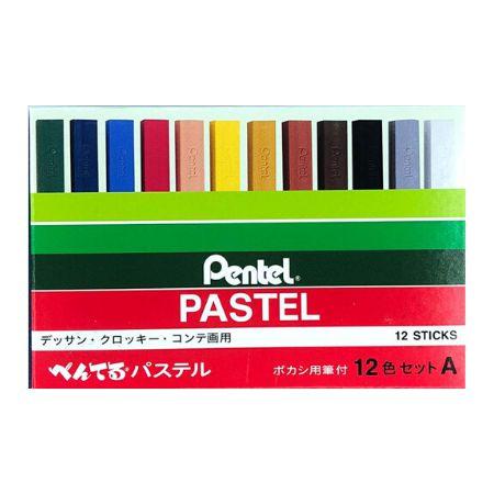 Giz Pastel Seco Pentel - 12 Cores
