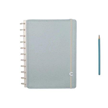 Caderno Inteligente Azul Pastel - Grande