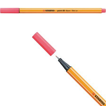 Stabilo Point 88 - Vermelho Neon 88/040