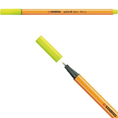 Stabilo Point 88 - Amarelo Neon 88/024