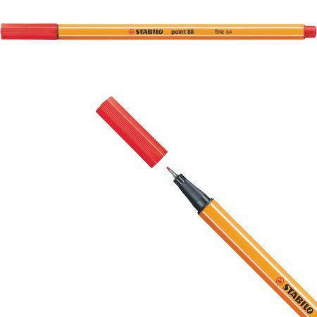 Stabilo Point 88 - Vermelho 88/40