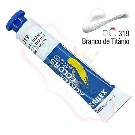 Tinta Acrílica Acrilex 20ml - Branco de Titânio 319