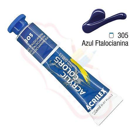 Tinta Acrílica Acrilex 20ml - Azul Ftalocianina 305