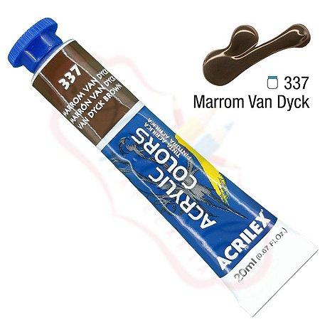 Tinta Acrílica Acrilex 20ml - Marrom Van Dyck 337