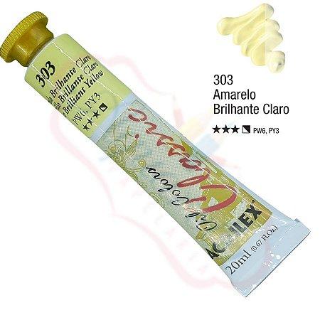 Tinta a óleo Acrilex Classic 20ml - Amarelo Brilhante Claro 303