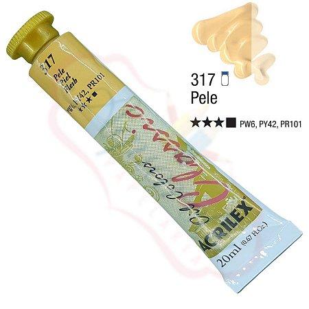 Tinta a óleo Acrilex Classic 20ml - Pele 317