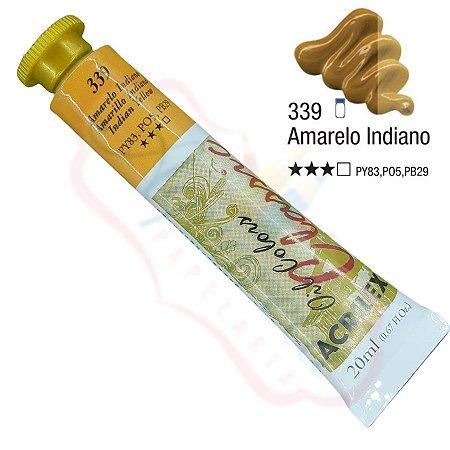 Tinta a óleo Acrilex Classic 20ml - Amarelo Indiano 339