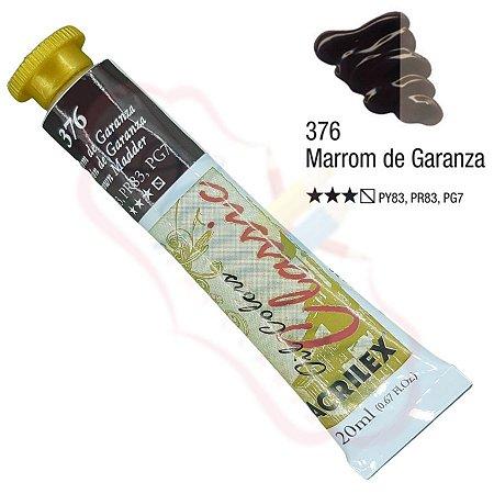 Tinta a óleo Acrilex Classic 20ml - Marrom de Garanza 376