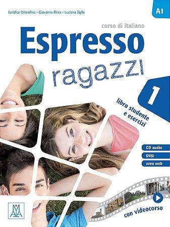 Espresso ragazzi 1 - Libro dello studente e esercizi + CD audio + DVD