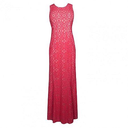 Vestido de festa em renda adoro - cor vermelho
