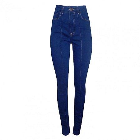 Calça skinny jeans escura feminina lez a lez denim + moletom
